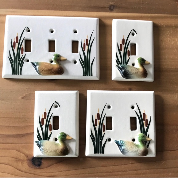 Ceramic Duck Switch Covers Plates 2D Cotta…